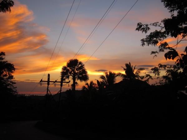 západ slunce Mindoro
